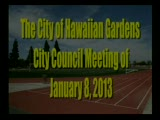 City Council Meeting of January 8, 2013 Part 1 of 2