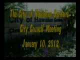 City Council meeting of January 10, 2012