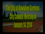 City Council Meeting of January 14, 2014