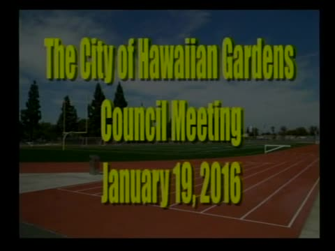 City council Meeting of January 19, 2016, Part 1 of 2