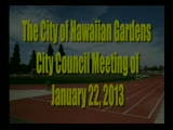 City Council Meeting of January 22, 2013 Part 1 of 2