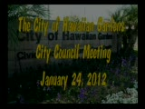 City Council Meeting of January 24, 2012
