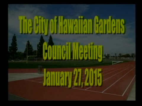 City Council Meeting of January 27, 2015