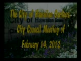 City Council Meeting of February 14, 2012