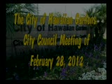 City Council Meeting of February 28, 2012 Part 1 of 2