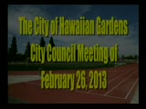 City Council Meeting of February 26, 2013  Part 1 of 2