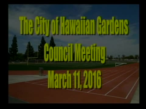 City council Meeting of March 11, 2016  PART 1 of 2