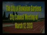 City Council Meeting of March 12, 2013