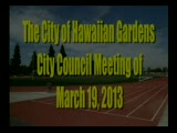 City Council Meeting of March 19, 2013 Part 1 of 2