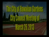 City Council Meeting of March 26, 2013
