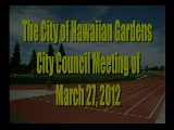 City Council Meeting of March 27, 2012