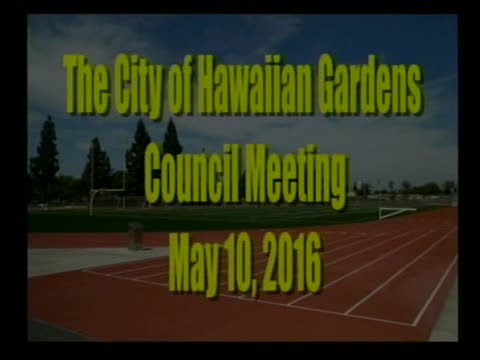 City council Meeting of May 10, 2016  PART 1 of 2
