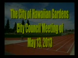 City Council Special Meeting of May 13, 2013