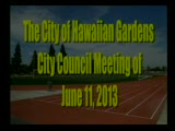 Council Meeting of June 11, 2013 Part 2 of 2