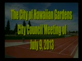 City Council Meeting of July 9, 2013