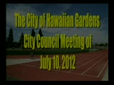 City Council Meeting of July 10, 2012