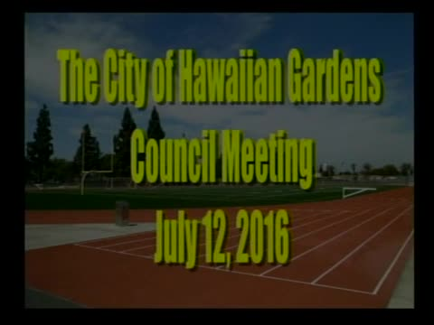 City Council Meeting of July 12, 2016 PART 1 of 2