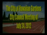 City Council Meeting of July 24, 2012 Part 1 of 3