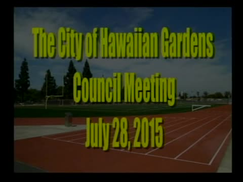 City Council Meeting of  July 28, 2015 Part 2 of 2