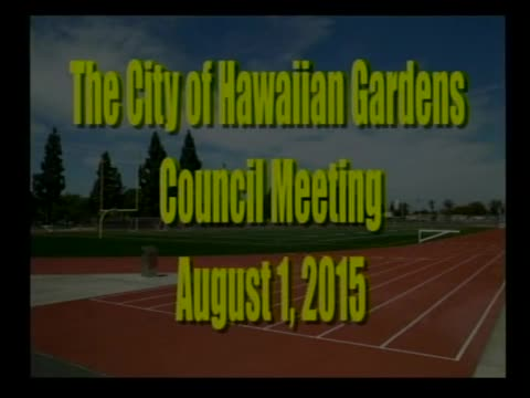 City Council meeting of August 1, 2015
