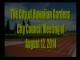 City Council Meeting of August 12, 2014