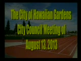 Council Meeting of August 13, 2013