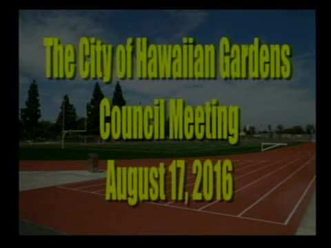 City Council Special Meeting of August 17, 2016 PART 1 of 2