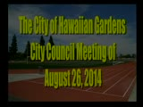 City Council Meeting of August 26, 2014