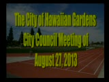 City Council Meeting of August 27, 2013
