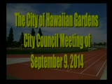 City Council Meeting of September 9, 2014