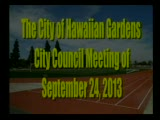 City Council Meeting of September 24, 2013 Part 1 of 2