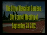 City Council Meeting of September 25, 2012 Part 1 of 2