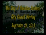 City Council Meeting of September 27, 2011