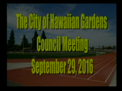 City Council Meeting of September 29, 2016