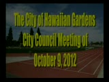 City Council Meeting of October 9, 2012 part 1 of 2