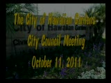 City Council Meeting of October 11, 2001