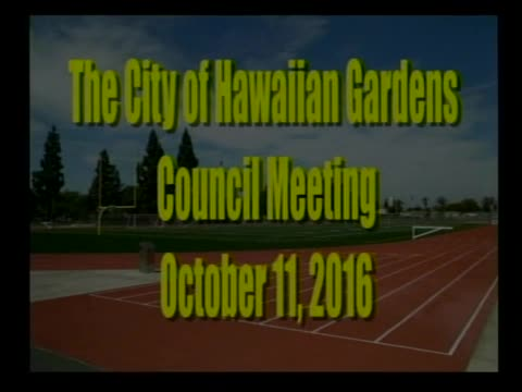 City Council Meeting of October 11, 2016 Special Meeting Part 1 of 2