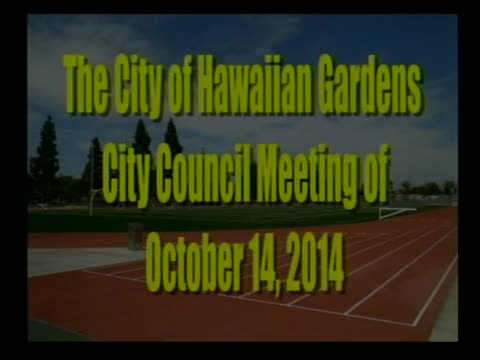 City Council Meeting of October 14, 2014