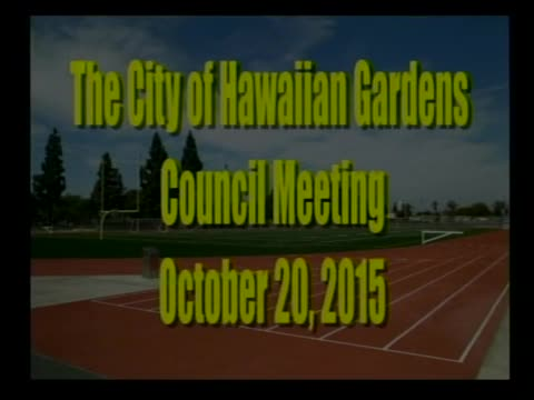 City Council Meeting of October 20, 2015 PART 1 of 3