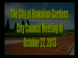 City Council Meeting of October 22, 2013 PART 1 of 3