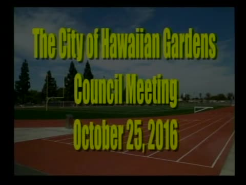City Council Meeting of October 25, 2016