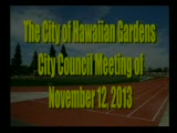 City Council Meeting of November 12, 2013 PART 1 of 2