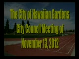 City Council Special Meeting of November 13, 2012