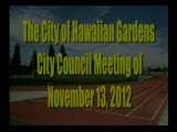 City Council Meeting of November 13, 2012 Part 1 of 2