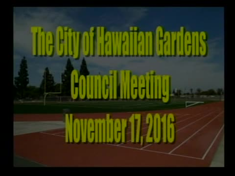 City Council Meeting of November 17, 2016 Part 1 of 2