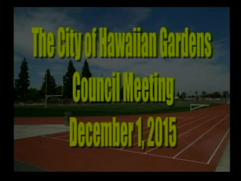 City Council Meeting of December 1, 2015