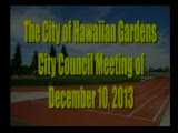 City Council Meeting of December 10, 2013