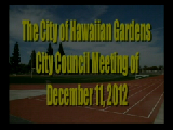 City Council Meeting of December 11, 2012 Part 1 of 2