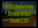 City Council Meeting of December 12, 2013 Part 1 of 2