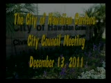 City Council Meeting of December 13, 2011